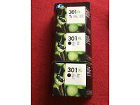 3 x HP 301XL Cartridges