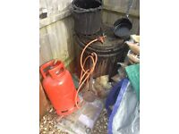 Hot BItumen Pot,Burner bucket and ladel