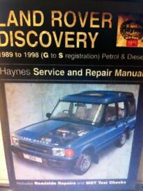Haynes Manual, Land Rover Discovery 89-98