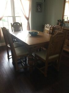 """Antique dining room  set 9 piece , early American 1900""""s  St. John's Newfoundland image 1"""