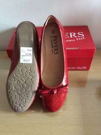 Ladies Pavers red shoes size 7 brand new