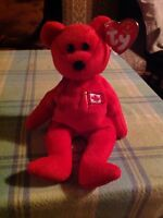 """TY BEANIE BABY """"PIERRE"""" THE BEAR CANADA EXCLUSIVE WITH TAG"""