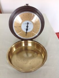 Salter wall scales with brass pan
