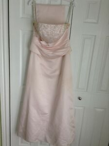 Strapless Dress w/ Shawl  - Size 14