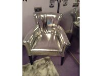 Luxury silver chair