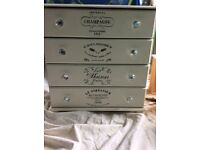 Annie Sloan white four chest of drawers
