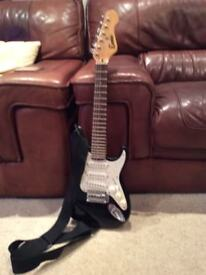 3/4 size encore electric guitar