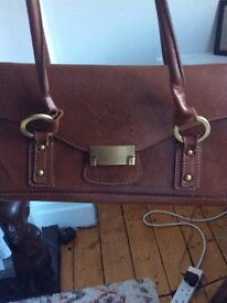 1978 Alessandro Brown Leather Handbag.
