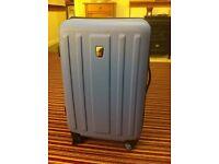 Blue hard suitcase