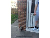 Solid heavy iron gate