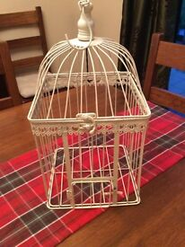 Shabby chic birdcage