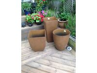 NEW Aged rust effect planters