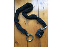 Motorcycle chain and padlock Unused Two keys Motorbike security Lock
