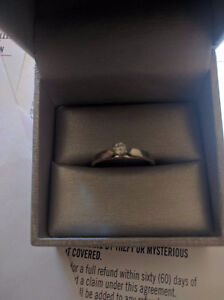 0.20CT diamond ring 14 white Gold
