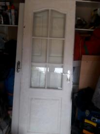 Doors part glazed internal double doors