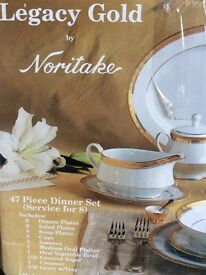 Noritake Legacy Gold 47 Piece Dinner Set