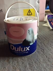 Brand new unopened dulux 2.5l pink sorbet paint