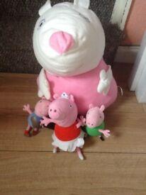 Peppa pig soft toy bundle