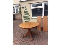 Solid oak table.