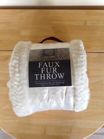 Brand new faux fur throw