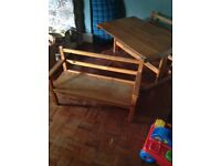 Table. and benches for little ones