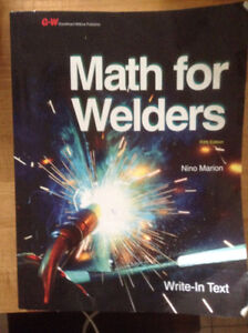 Math For Welders text book for sale