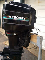 Merc 90 HP Outboard (Oil Injected)