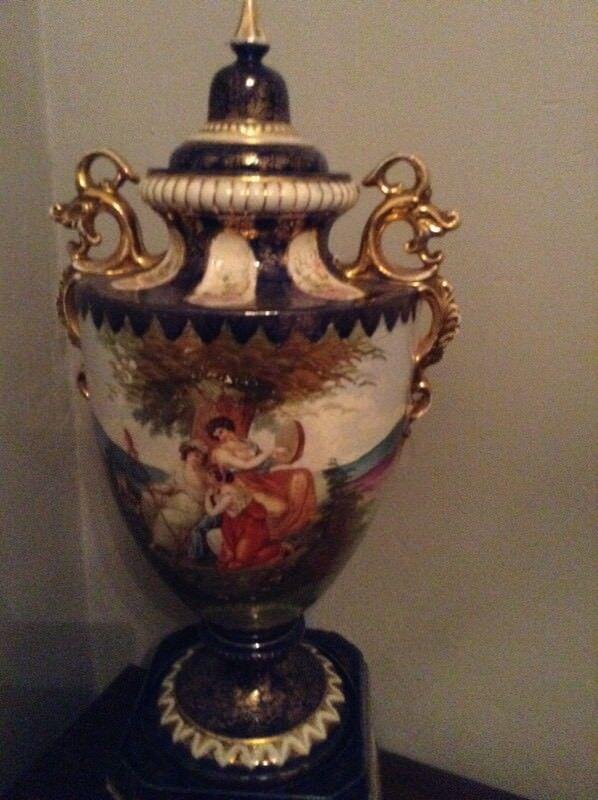 Huge Rare Victorian Antique Vases Pair In Morley West Yorkshire