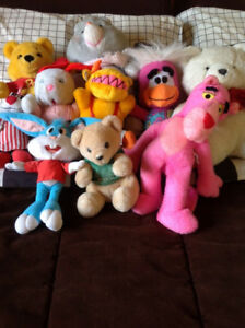 Lot de 10 toutous (peluches)