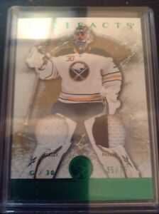 12/13 artifacts jerseys #120 Ryan Miller patch emerald 35/75