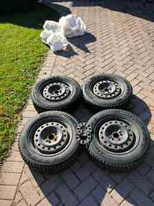 Hankook iPike RS Winter Tires 5x100 195/65R15 Lots of Tread