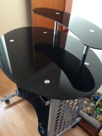 Black Glass Computer Station
