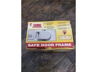 Safe door frame lock
