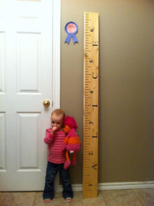 Pine 6' Tall Growth Chart Rulers