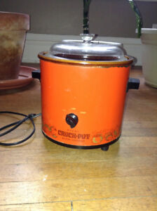 Vintage Orange Rival Crock Pot Slow Cooker