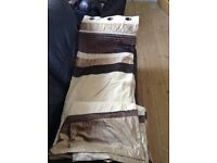 Brown striped curtains *like new*