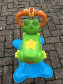 Vtech bounce and discover frog and ride on train