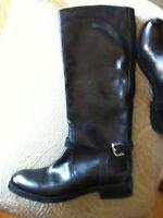 New Tall Women's black flat boots deal