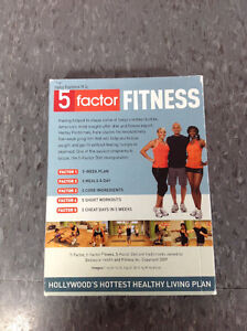 5 Factor Fitness DVD set with Diet Journal Cambridge Kitchener Area image 3