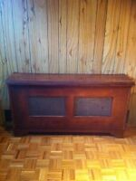 Antique hot water radiator cover buffet side table