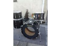 Early 70s Premier Drum Kit in piano black £550
