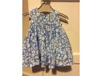 blue floral dress 0-3 months Jasper Conran £3