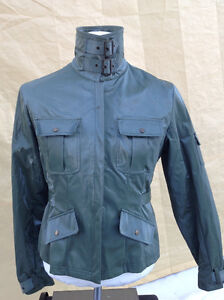 2 ladie's coats for 1 price - brown moto & green army Cambridge Kitchener Area image 4