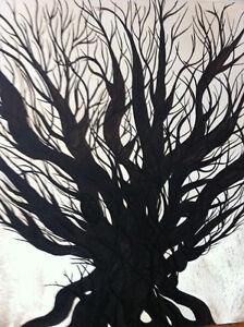"Original Oil Painting Artwork Oak by Des Rosiers 30 x 30"" Peterborough Peterborough Area image 3"