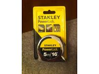 Stanley Power Lock Tape Rule Measure - 5m / 16' by 19mm width
