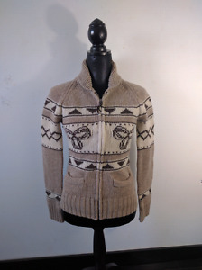 TNA Sea to Sky cowichan style sweater size S