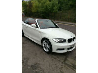 BMW 118i M SPORT CONVERTIBLE IN WHITE 54,000 MILES FSH HEATED LEATHER SEATS 2010