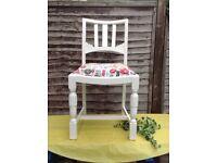 Shabby Chic White Chair