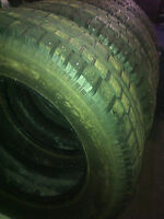 4 X 235 65 17's Winter Tires for SUV/Truck 40-50% remaining