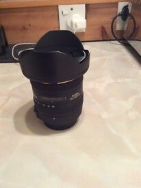 Sigma wide angle Nikon fit lens 10-20mm mint